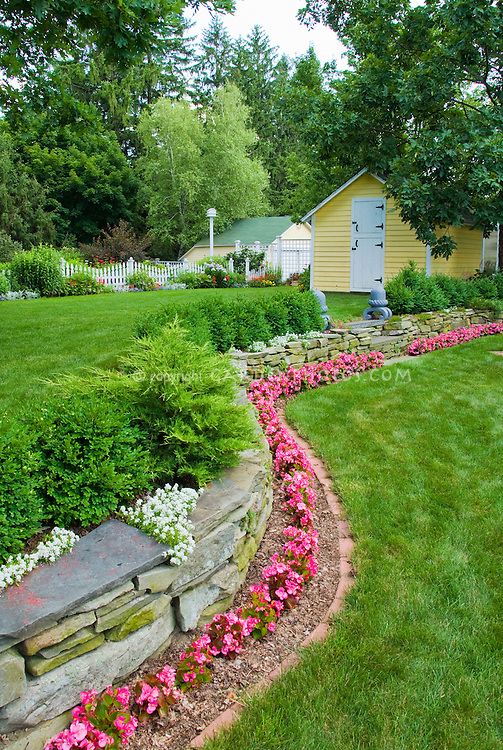 Beautiful Backyard In Summer Plant Amp Flower Stock