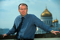 Moscow, Russia, 11/07/2002..Billionaire businessman Vladimir Potanin, Chairman of the Interross holding company..