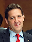 United States Senator Ben Sasse (Republican of Nebraska) during the US Senate Committee on Banking, Housing, and Urban Affairs confirmation hearing on the nomination of Dr. Benjamin Carson to be Secretary of Housing and Urban Development (HUD) on Capitol Hill in Washington, DC on Thursday, January 12, 2017.<br /> Credit: Ron Sachs / CNP
