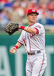 21 May 2014: Washington Nationals outfielder Nate McLouth in action against the Cincinnati Reds at Nationals Park in Washington, DC. The Reds edged out the Nationals 2-1 to take the rubber match of their 3-game series. Mandatory Credit: Ed Wolfstein Photo *** RAW (NEF) Image File Available ***