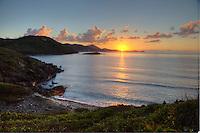 Sunrise from Ditleff Peninsula.St. John.U.S. Virgin Islands
