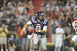 Ole Miss quarterback Jeremiah Masoli (8) passes at Vaught-Hemingway Stadium in Oxford, Miss. on Saturday, September 25, 2010. Ole Miss won 55-38 over Fresno State.