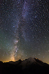 Milky Way over Mount Rainier, Mount Rainier National Park, Washington