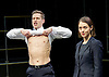 Bull <br /> by Mike Bartlett <br /> at Young Vic, London, Great Britain <br /> Press photocall <br /> 14th December 2015 <br /> <br /> <br /> Max Bennett as Tony <br /> <br /> Susannah Fielding as Isobel<br /> <br /> <br /> Photograph by Elliott Franks <br /> Image licensed to Elliott Franks Photography Services