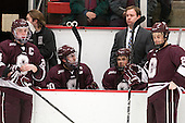 Nathan Sinz (Colgate - 24), Jeremy Price (Colgate - 20), Kevin Lough (Colgate - 4), Brad Dexter (Colgate - Assistant Coach) - The Harvard University Crimson defeated the Colgate University Raiders 4-1 (EN) on Friday, February 15, 2013, at the Bright Hockey Center in Cambridge, Massachusetts.