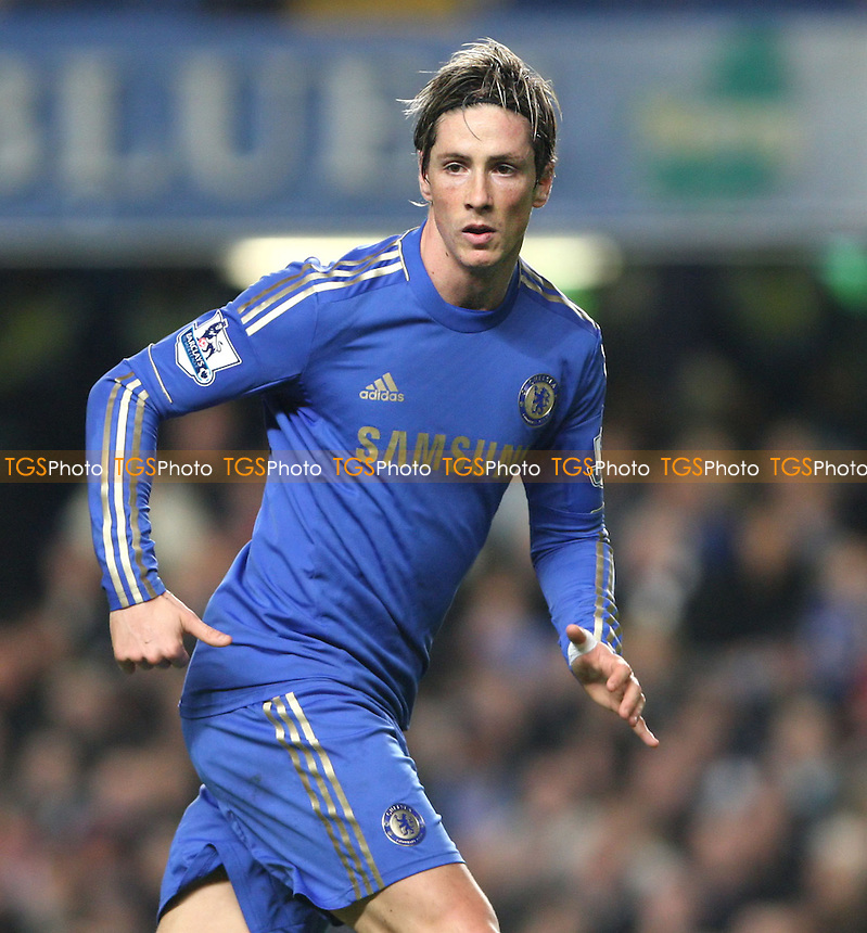 Fernando Torres of Chelsea - Chelsea vs Queens Park Rangers, Barclays Premier League at Stamford Bridge, Chelsea - 02/01/13 - MANDATORY CREDIT: Rob Newell/TGSPHOTO - Self billing applies where appropriate - 0845 094 6026 - contact@tgsphoto.co.uk - NO UNPAID USE.