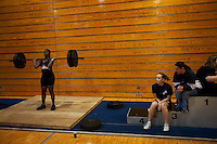 Girls High School Weightlifting Championships. New Port Richey, Florida.