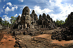 The Bayon Temple in the ancient city of Angkor, in northwestern Cambodia, where Khmer kings established their capitals from the ninth to the 15th century.