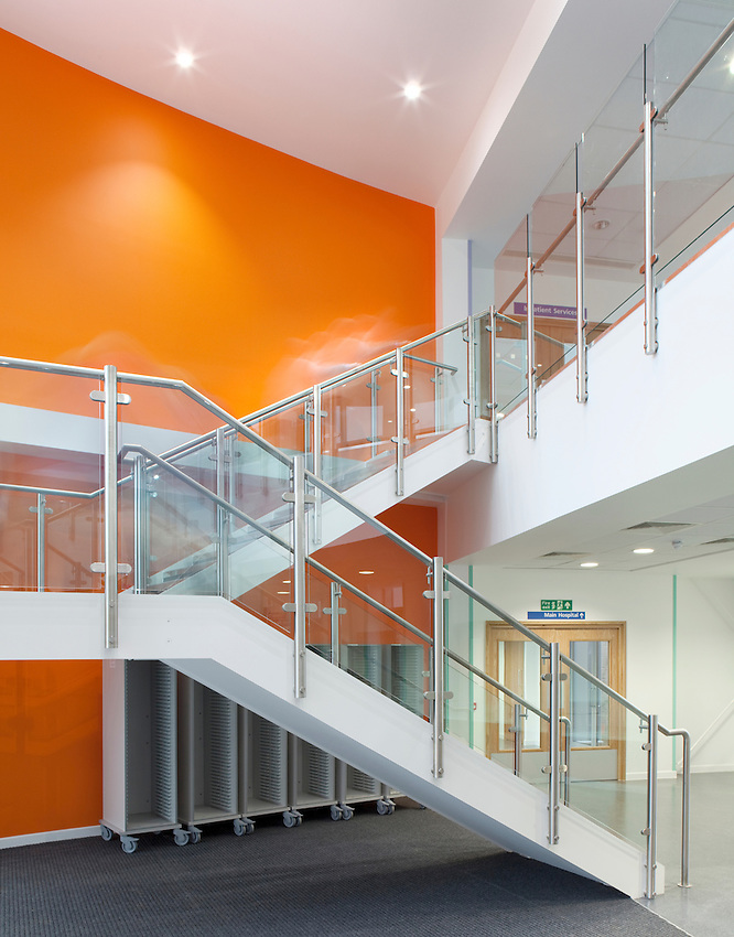 staircase at lister hospital, hertfordshire