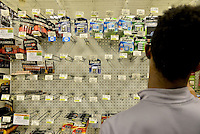 MIRAMAR, FL - OCTOBER 06: Empty battery shelve inside at Publix supermarket in Miramar, Florida in preparation for the landfall of Hurricane Matthew on October 6, 2016 in Miramar, Florida. The hurricane is expected to make landfall sometime this evening or early in the morning as a possible category 4 storm.Credit: MPI10 / MediaPunch