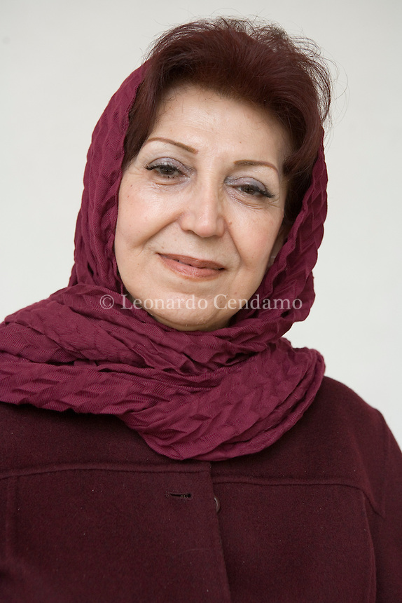 San Giorgio Island, Venice, Italy, 2007. Shahla Lahiji, Iranian writer, publisher, translator, and director of Roshangaran, a  publishing house of books on women's issues.