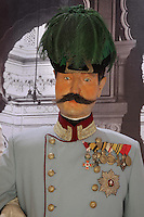 Mannequin of Archduke Franz Ferdinand in the Museum of the Assassination of Franz Ferdinand, built on the spot where, on the 28th June 1914, Gavrilo Princip assassinated Archduke Franz Ferdinand, an act which led to the outbreak of the First World War, Sarajevo, Bosnia and Herzegovina. Picture by Manuel Cohen