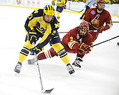 The University of Michigan ice hockey team tied Ferris State, 1-1, before winning the shootout, 1-0, at Yost Ice Arena in Ann Arbor, Mich., on March 2, 2013.