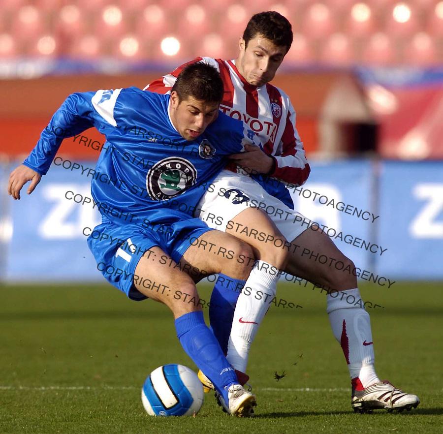 Sport Fudbal Soccer Crvena Zvezda Red Star Belgrade Serbia Borac Cacak Meridian super liga 2.12.2006. photo: Pedja Milosavljevic<br />