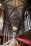 Interior of Glasgow Cathedral Church in Scotland