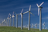 Wind power generators, California, USA.