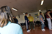 South America, Argentina, Almirante Brown, Adrogue, Evangelism - Evangelical HIV/AIDS support group located in the Doctor Arturo Onativia Hospital in Adrogue. The group helps its participants spiritually and empathetically, July 2006, &copy;Stephen Blake Farrington<br />