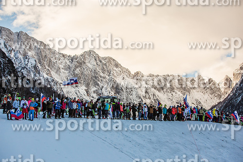 Spectators during Ladies 1.2 km Free Sprint Qualification race at FIS Cross Country World Cup Planica 2016, on January 16, 2016 at Planica, Slovenia. Photo By Grega Valancic / Sportida