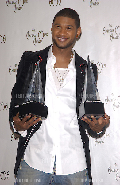 Nov 14, 2004; Los Angeles, CA: Singer USHER at the 32nd Annual American Music Awards at the Shrine Auditorium, Los Angeles, CA..