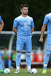 23 September 2016: North Carolina's Cam Lindley. The University of North Carolina Tar Heels hosted the Boston College Eagles in Chapel Hill, North Carolina in a 2016 NCAA Division I Men's Soccer match. UNC won the game 5-0.
