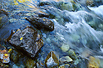 Crystal River tumbles over rocks near the old Crystal Mill, Elk Mountains, Colorado