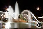 The Logan Circle fountain at night in Philadelphia, Pennsylvania on May 27th 2012. (Photo by Brian Garfinkel)