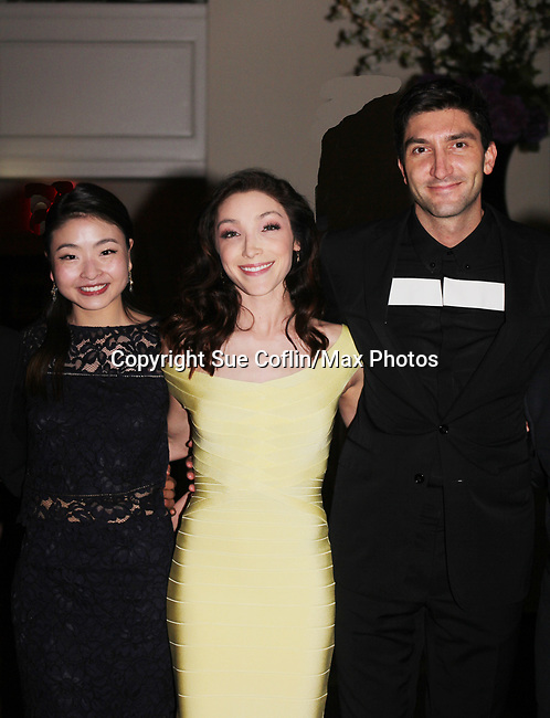 Figure Skating in Harlem celebrates 20 years - Champions in Life benefit Gala on May 2, 2017 honoring Sasha Cohen, and Curtis McGraw Webster and presenting Scott Hmailto with The Power of Inspiration Award at 583 Park Avenue, New York City, New York. Attending are Maia Shibutani, Meryl Davis, Evan Lysacek. (Photo by Sue Coflin/Max Photos)
