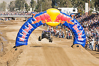 #124 Class One Vehicle of Eric Chase getting air near start of 2007 Baja 1000, Ensenada, Mexico. Team finished in 13th place with a time of  43:55:41