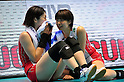 (L to R) Nana Iwasaka (JPN), Saori Kimura (JPN), NOVEMBER 17,2011 - Volleyball : FIVB Women's Volleyball World Cup 2011,4th Round Tokyo(A) during match between Japan 3-2 Germany at 1st Yoyogi Gymnasium, Tokyo, Japan. (Photo by Jun Tsukida/AFLO SPORT) [0003]