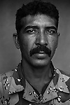 Pvt. Ali Salim Hassan, 35, Baghdad, Construction Worker, 4th Co., 2nd Battalion, 7th Division of the Iraqi Army in Haditha, Iraq on Sun. Nov. 27, 2005.