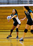 14 November 2010: Vermont Commons School Senior Vivien Enriquez in action during the 2010 Vermont State Volleyball Championships at Saint Michael's College in Colchester, Vermont. Participating schools included: the Enosburg Falls Hornets, the Lake Region Union Rangers, the Lyndon Institute Vikings, and the VCS Flying Turtles. For the third consecutive year the Lady Turtles were champions, while the boys championship went to Lake Region Union High School for the first time. Mandatory Credit: Ed Wolfstein Photo.