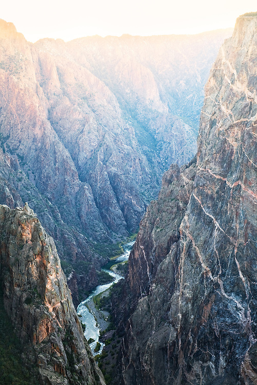 The Gunnison River and Painted Wall. Black Canyon of the Gunnison National Park, Colorado.