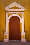The Cathedral of Cartagena, Main facade side door <br /> (1577), Cartagena<br />  de Indias, Bolivar Department,, Colombia,<br />  South America. 2008