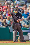 4 March 2013: MLB Home Plate Umpite Jerry Meals officiates a Spring Training game between the Minnesota Twins and the St. Louis Cardinals at Roger Dean Stadium in Jupiter, Florida. The Twins shut out the Cardinals 7-0 in Grapefruit League play. Mandatory Credit: Ed Wolfstein Photo *** RAW (NEF) Image File Available ***