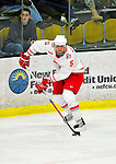 2 January 2011: Ohio State University Buckeye defenseman Brandon Martell, a Sophomore from  Elk River, MN, in action against the Army Black Knights at Gutterson Fieldhouse in Burlington, Vermont. The Buckeyes defeated the Black Knights 5-3 to win the 2010-2011 Catamount Cup. Mandatory Credit: Ed Wolfstein Photo