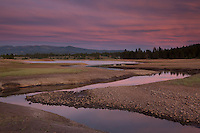 """Alder Creek at Prosser Reservoir Sunset 1"" - Photograph at sunset of Alder Creek at Prosser Reservoir near Truckee, California."