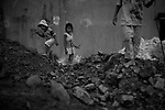 Children of cement workers in Ho Chi Minh City, Vietnam.