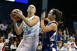 25 November 2012: North Carolina's Whitney Adams (24) and Asheville's Gentry Manley (22). The University of North Carolina Tar Heels played the UNC Asheville Bulldogs at Carmichael Arena in Chapel Hill, North Carolina in an NCAA Division I Women's Basketball game. UNC won the game 101-42.