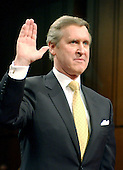 Washington, D.C. - March 23, 2004 -- Former United States Secretary of Defense William S. Cohen is sworn-in to testify before The National Commission on Terrorist Attacks Upon the United States (also known as the 9-11 Commission) in Washington, D.C. on March 23, 2004.<br /> Credit: Ron Sachs / CNP<br /> [RESTRICTION: No New York Metro or other Newspapers within a 75 mile radius of New York City]