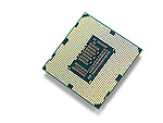 Intel i7 3770K processor with LGA 1155 CPU socket isolated on white background