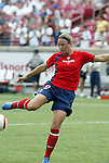 6 June 2004: Abby Wambach before the game. The United States tied Japan 1-1 at Papa John's Cardinal Stadium in Louisville, KY in an international friendly soccer game..