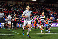 George Ford and the rest of the Bath Rugby team run out onto the field. European Rugby Challenge Cup match, between Bristol Rugby and Bath Rugby on January 13, 2017 at Ashton Gate Stadium in Bristol, England. Photo by: Patrick Khachfe / Onside Images