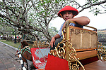 A carriage driver waits for customers at the Citadel in the former imperial capital of Hue, Vietnam. April 21, 2013.