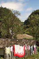 Laundry drying  in the Lenca Indian village of La Campa, Lempira, Honduras....