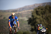 Matt Reed competes during the bike portion of the Accenture Ironman California 70.3 in Oceanside, CA on March 29, 2014.