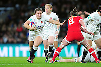 Amy Cokayne of England takes on the Canada defence. Old Mutual Wealth Series International match between England Women and Canada Women on November 26, 2016 at Twickenham Stadium in London, England. Photo by: Patrick Khachfe / Onside Images