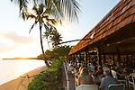The restaurant at the Hotel Molokai in the town of Kaunakakai, Molokai, Hawaii, USA