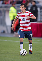 03 June 2012: US Men's National Soccer Team midfielder José Francisco Torres #16 in action during an international friendly  match between the United States Men's National Soccer Team and the Canadian Men's National Soccer Team at BMO Field in Toronto..The game ended in 0-0 draw...