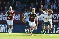 Burnley's Ashley Barnes and Manchester United's Marouane Fellaini<br /> <br /> Photographer Stephen White/CameraSport<br /> <br /> The Premier League - Burnley v Manchester United - Sunday 23rd April 2017 - Turf Moor - Burnley<br /> <br /> World Copyright &copy; 2017 CameraSport. All rights reserved. 43 Linden Ave. Countesthorpe. Leicester. England. LE8 5PG - Tel: +44 (0) 116 277 4147 - admin@camerasport.com - www.camerasport.com