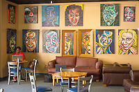 Art by Eric Kelly, III at the popular, black-owned cafe, Blue Coffee in Durham, North Carolina on Friday, November 7, 2014. (Justin Cook)